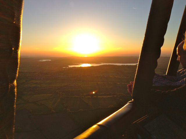 sunset over Chew Valley