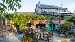 Beer Garden at The Mill on the Exe, Exeter