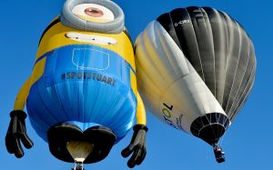 Stuart the Minion and the Bristol solar Balloon - photo credit telegraph.co.uk