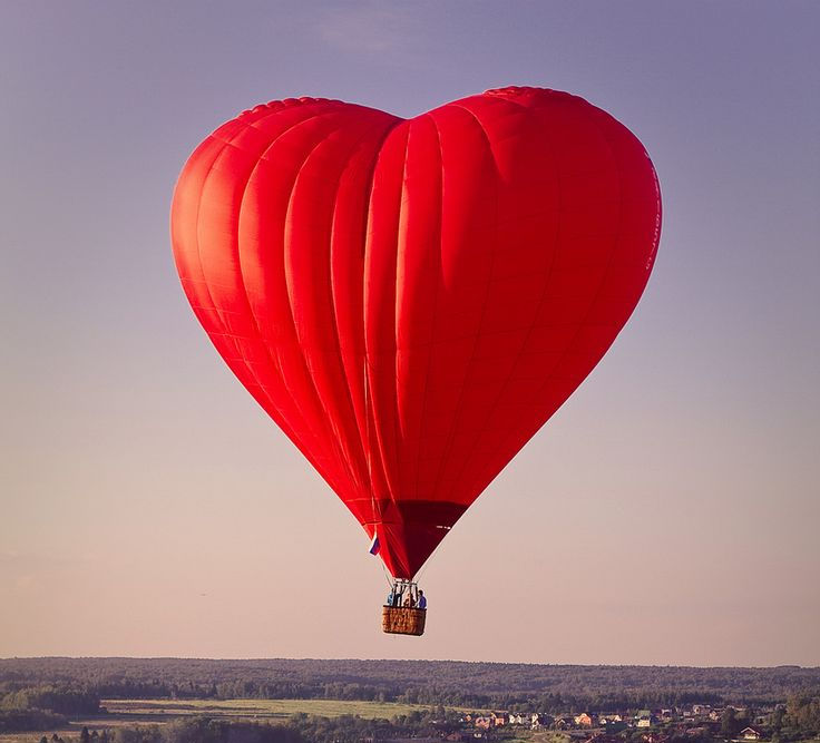 Valentine's hot air balloon ride