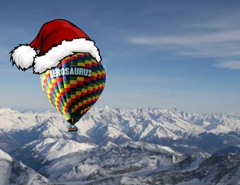 hot air ballooning christmas