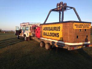 aerosaurus basket being transported