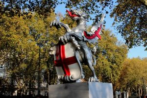 st george dragon statue