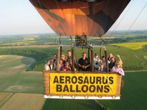 balloon flight over sweeping countryside