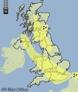 met office map of UK