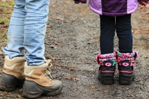 kids in appropriate footwear
