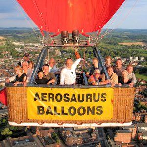 Bucket list flight with Aerosaurus Balloons