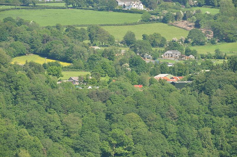 devon countryside balloon ride views