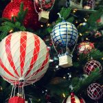 christmas bauble balloon flights on tree