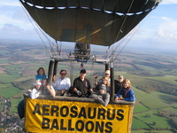 cornwall balloon ride with aerosaurus balloons
