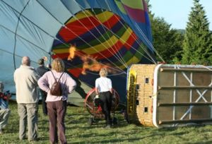 Inflating a hot air balloon - Education Zone