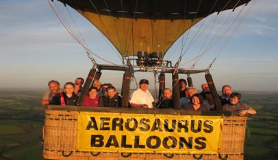 aerosaurus ballon ride in flight