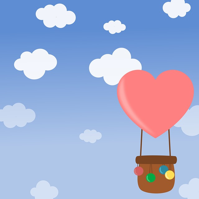 heart hot air balloon ride