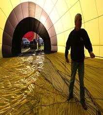 inside hot air balloon at Tiverton balloon festival